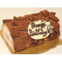 チョコレートアイスロールデコレーションケーキ