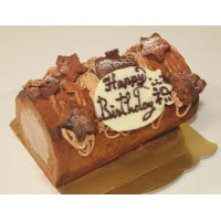 濃厚チョコレートクリームデコレーションロールケーキ