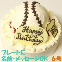 野球ボールケーキ6号いちご