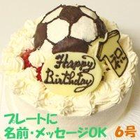 サッカーボールケーキ6号いちご